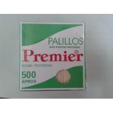 Mondadientes Premier 2x68mm Cajita 500 Palillos.Caja De 144 Ò 72 Cajitas