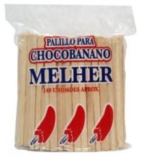 Palillos Chocobanano 100x3x6mm 12 Paquetes De 150 Uds C/1