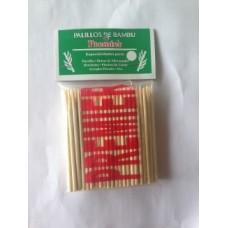 Chuzo Bambu Paq 100unds 4mmx100mm. Caja Con 100 Paquetes